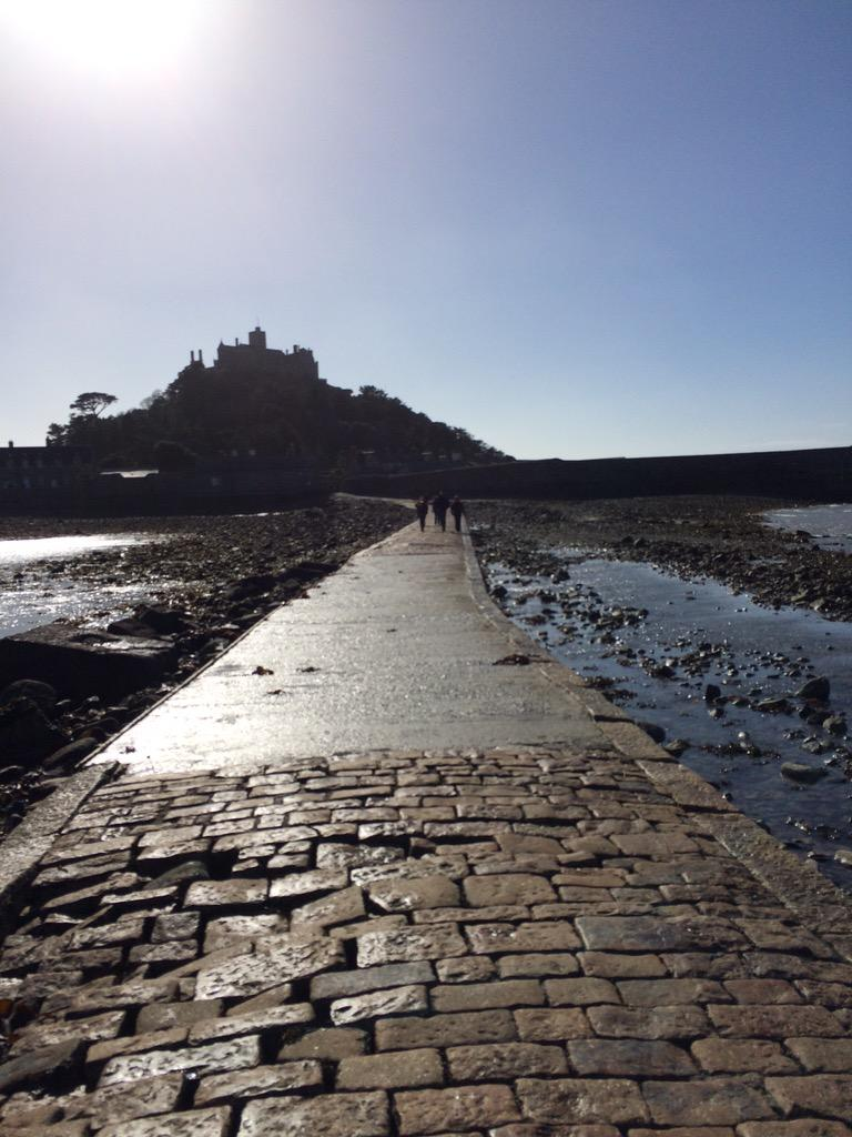 """""""@alisonjb: @carolvorders nooooo!! A picture to take your mind of them. St Michael's Mount today xx http://t.co/96P5gWpMSh"""" stunning"""
