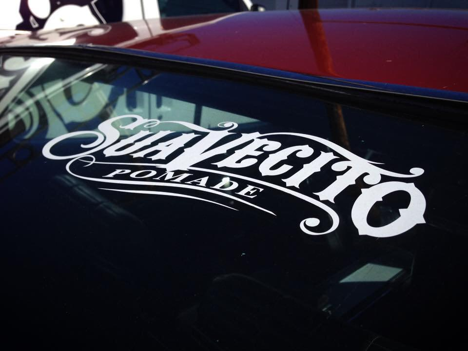 Suavecito on twitter looking for the perfect decal for your car window youre in luck we have the suavecito pomade vinyl sticker