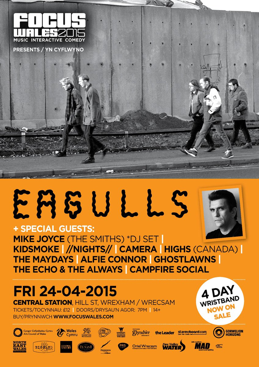 (Focus Wales) - The Eagulls / Kidsmoke / Camera + more @ Central Station, Wrexham