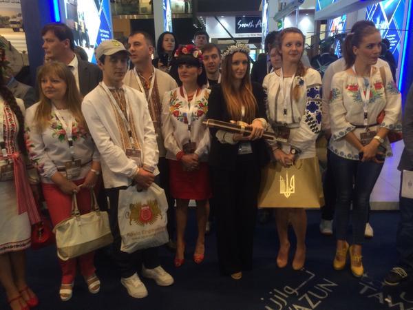 Украинская делегация на IDEX 2015