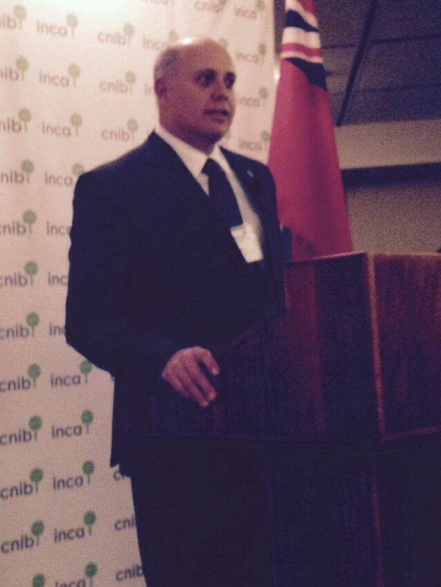 Firefighter @iaff13thdvp says #CNIB instilled confidence in him & provided tools to stay independent. #ONPath2Change http://t.co/YHVBSXNKcf
