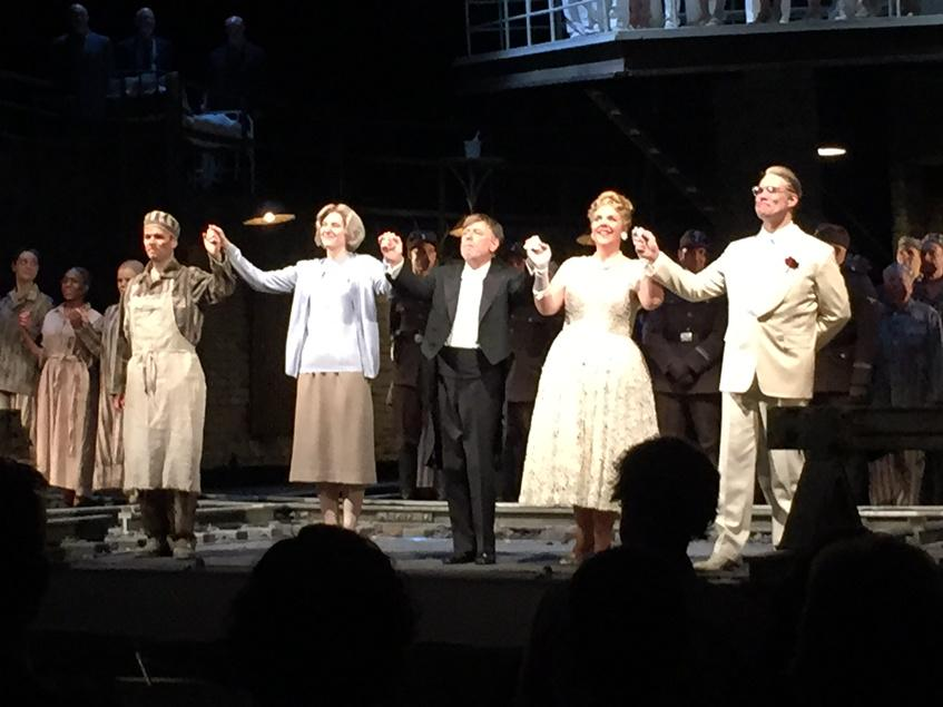 "Sir Andrew Davis with principals of Mieczyslaw Weinberg's ""The Passenger"", opening night curtain call, @LyricOpera http://t.co/He7uWxmypG"