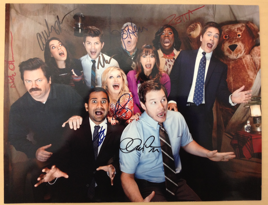 RETWEET now for your chance to win this signed cast photo! #ParksFarewell #ParksandPrizes4 http://t.co/NFqUfocubc
