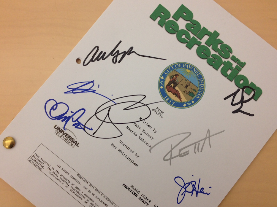RETWEET now for your chance to win this signed script! #ParksFarewell #ParksandPrizes5 http://t.co/3mmFWIhAod