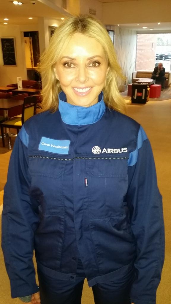 In Toulouse with @Airbus filming new doco for @BBC ... Like the uniform? X V V excited http://t.co/yrjwpn2dNK