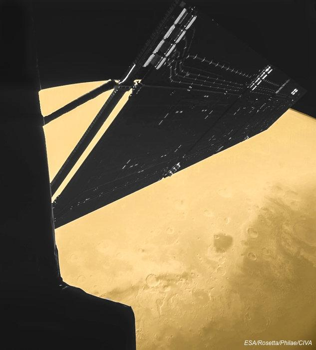 #Selfie from #space RT @ESA_Rosetta: #OTD in 2007, I flew past #Mars! http://t.co/GUoWrg1zSH http://t.co/jy7utHHlrF