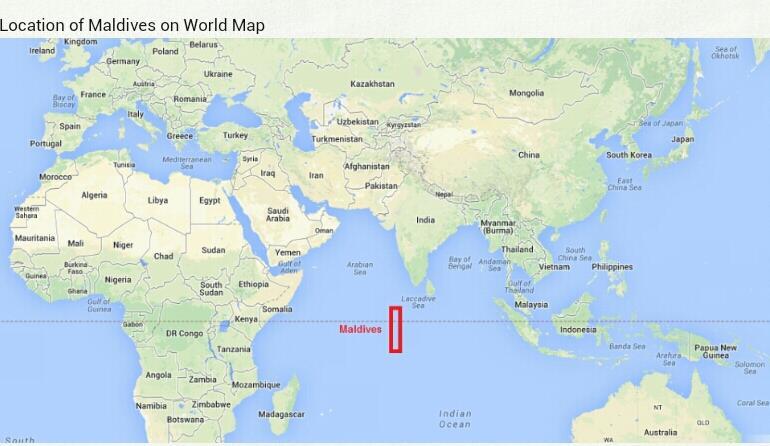 G Maldives On Twitter Location Of Maldives On World Map
