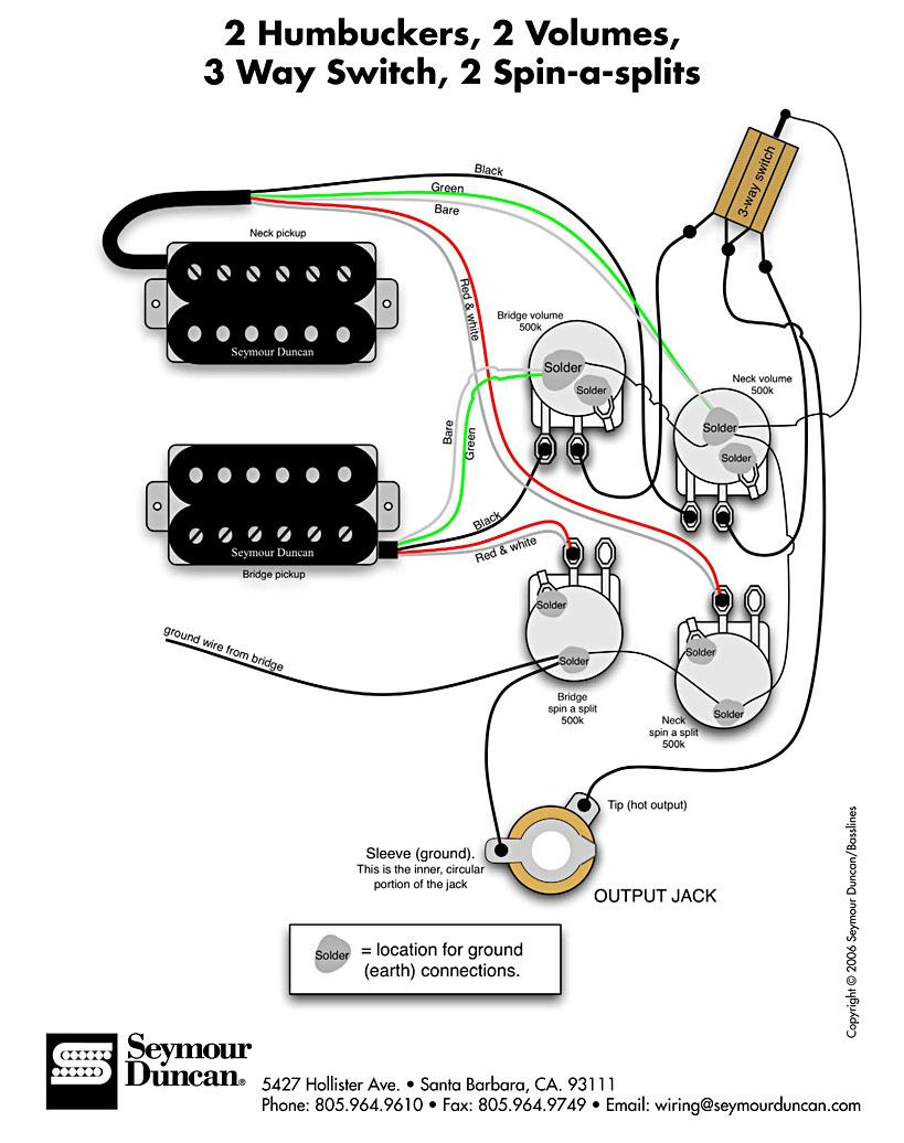 Showthread moreover Seymour Duncan Hss Wiring Diagram furthermore Showthread as well Fender Pickup Wiring Diagram likewise Showthread. on 2 humbuckers coil split wiring