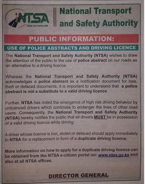 Ntsa new driving license