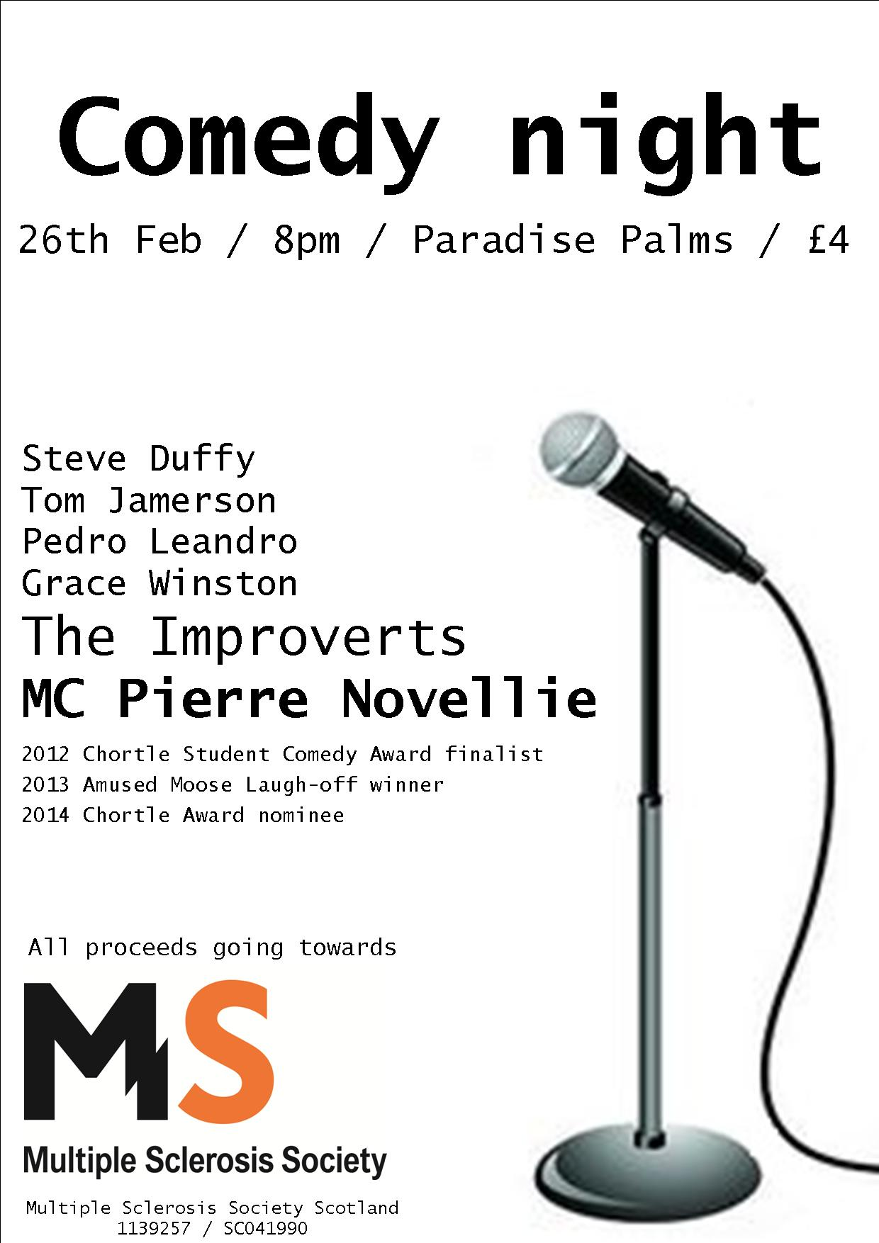 RT @EdMSSociety: Hiya @frankieboyle please help us spread the word about our comedy night tomorrow, all money going to @mssocietyscot http:…