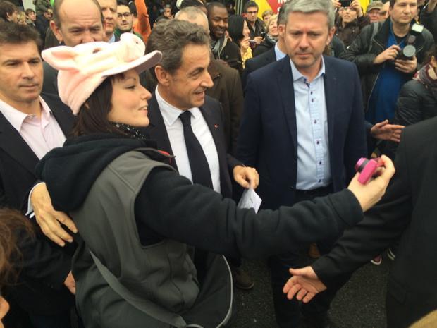 Thomas joubert on twitter nicolas sarkozy live au salon for Sarkozy salon agriculture