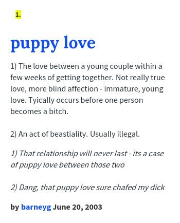 Puppy urban dictionary