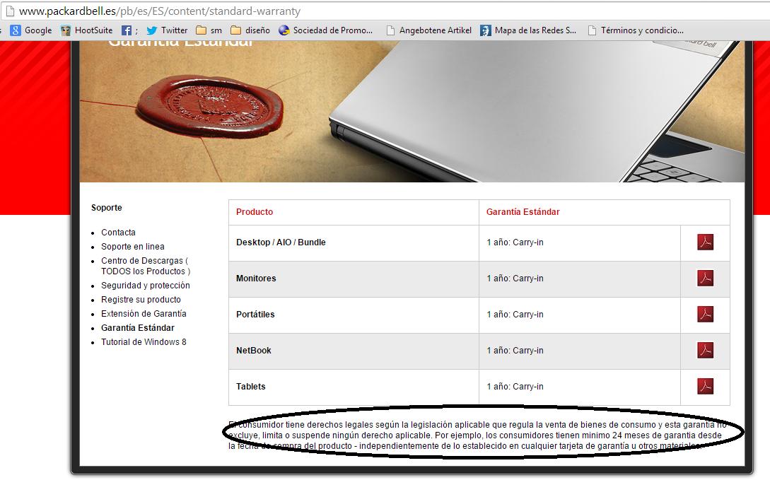 No compres un producto de @ES_Acer @Acer No cumplen con la garantía aunque lo prometan en su web. Te pido Rt http://t.co/qUhDY2mUpV