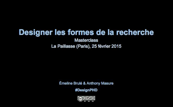 Thumbnail for #DesignPhD : Les formes de la recherche en Design : (re) penser les normes de la production scientifique