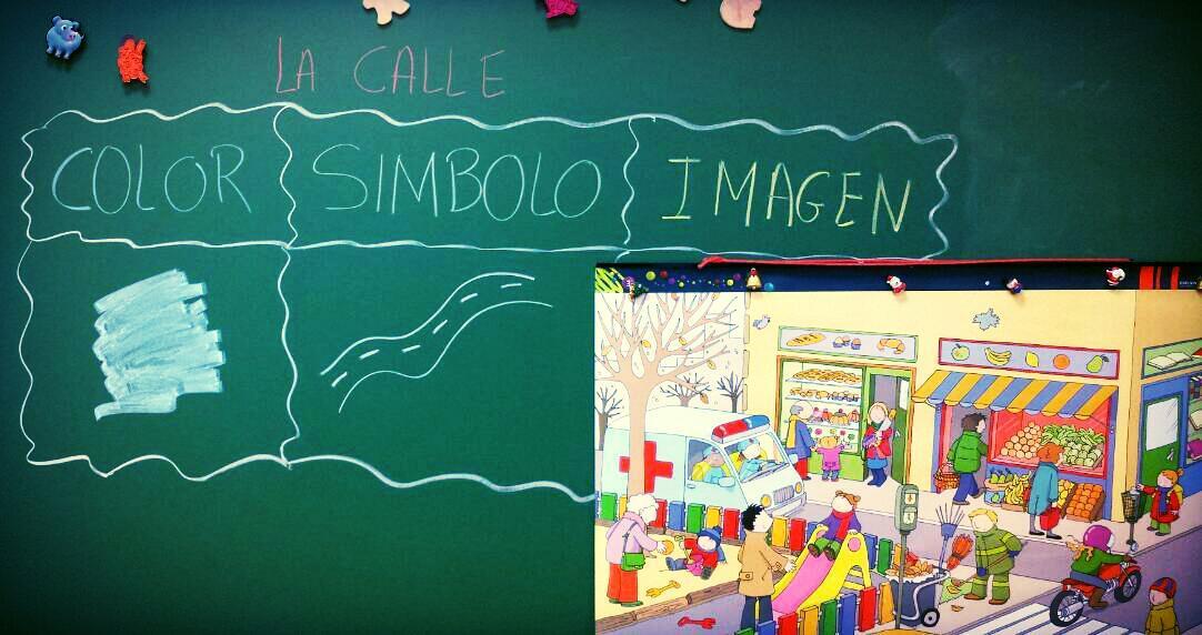 Rutina color, símbolo,  imagen.  1°B E.I. #ourenseenruta #compostelaenruta http://t.co/FXY6vYa0YL