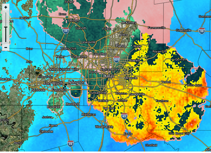 Mixed bag wintry weather radar Moderate snow falling