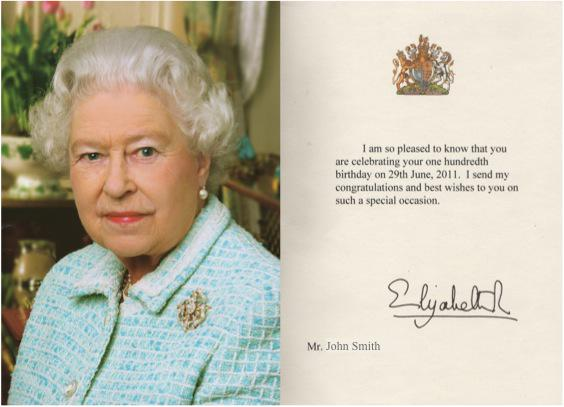 Suffolk Gazette on Twitter ROYAL EXCLUSIVE Queen sends 100th – 100 Birthday Card from Queen