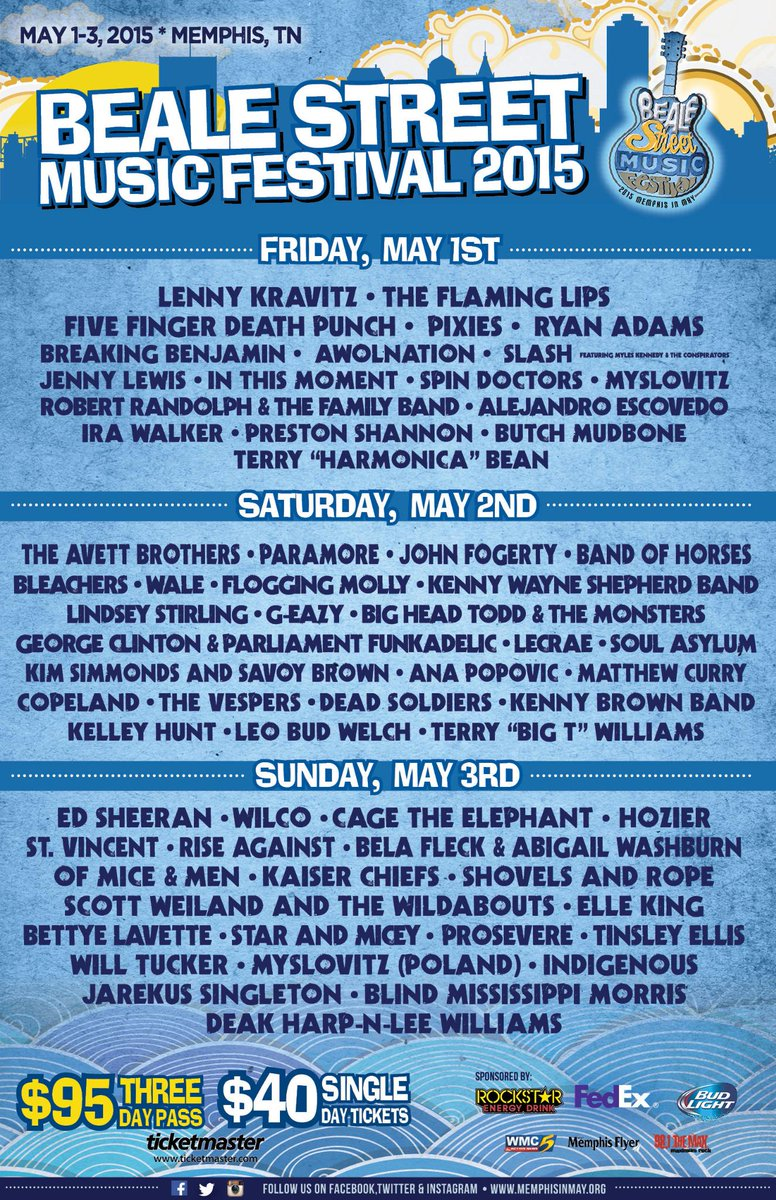memphis in may beale street music festival may 1-3 2015