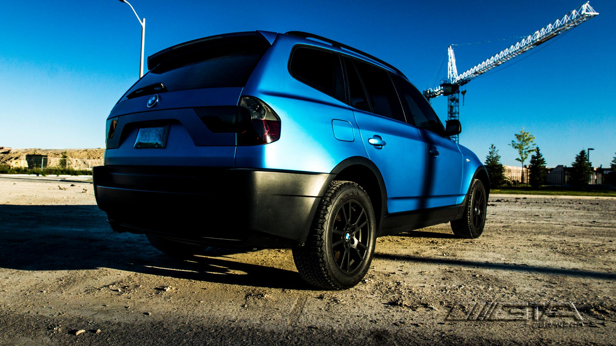 Gta Car Wrap On Twitter Quot Bmw X3 Transformed From Silver To Matte Blu Metallic By Gtacarwrap