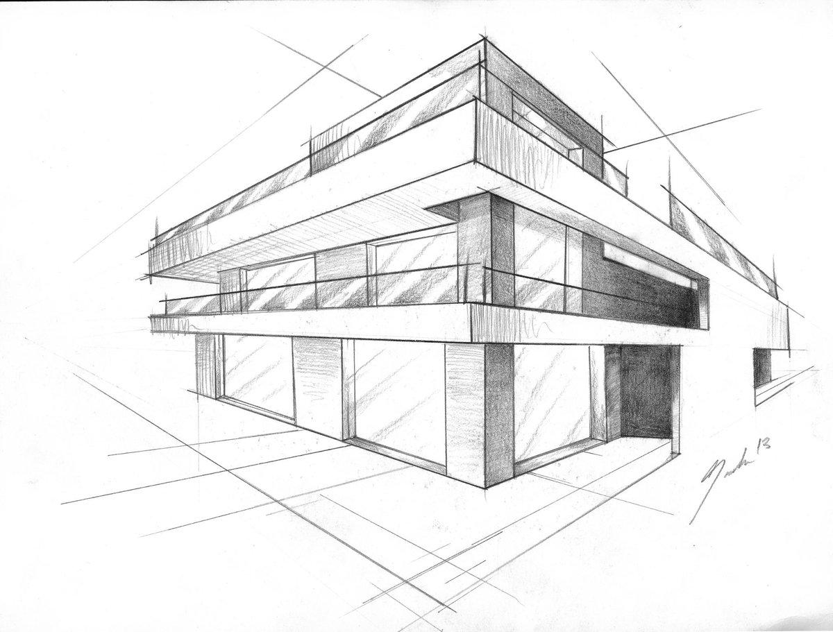 Faber-Castell On Twitter U0026quot;#3d #sketch By Sascha-David Salender. #architecture #illustration # ...