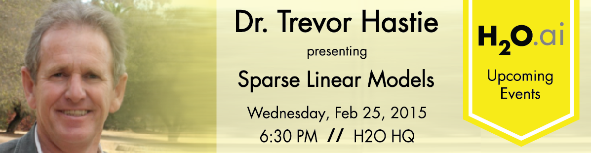 Livestream Feb 25, 6:30 pm PT Stanford Prof Trevor Hastie