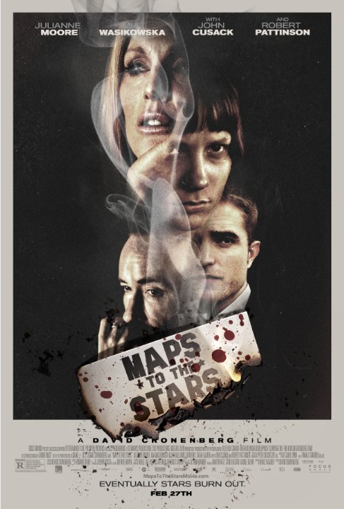 Opening Fri: Cronenberg's MAPS TO THE STARS, starring @_juliannemoore, Robert Pattinson, Mia Wasikowska & @johncusack http://t.co/n8iMcMQvPV