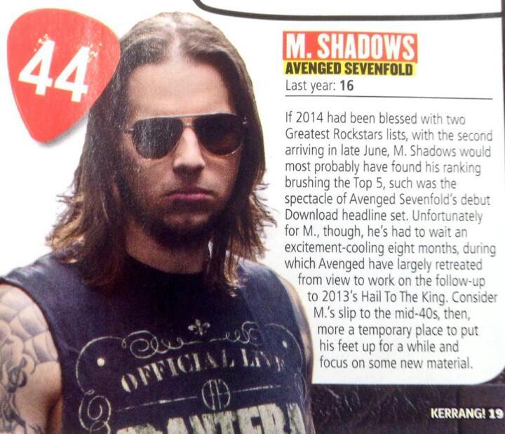 Greatest Rockstars Kerrang! | @A7XES