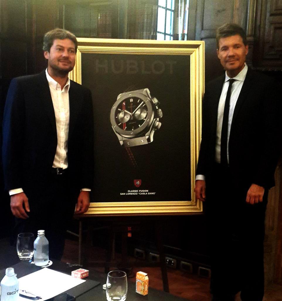 9ada9fe558bf  SanLorenzo firmó el convenio con Hublot. El Ciclón tendrá reloj oficial y  un nuevo y lujoso palco.pic.twitter.com aUav5UIisr