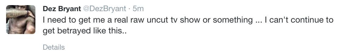 Dez tweet that just got deleted http://t.co/938Tc8gDv6