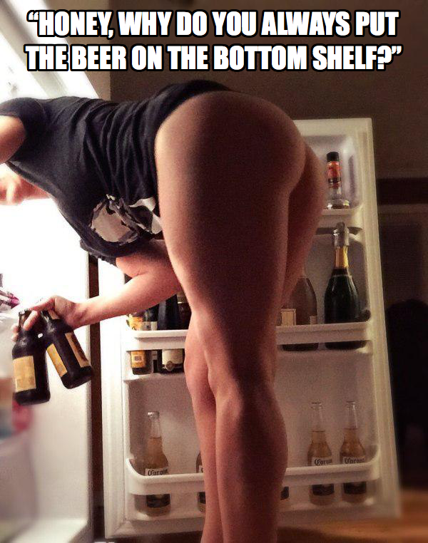 shelf bottom Beer on