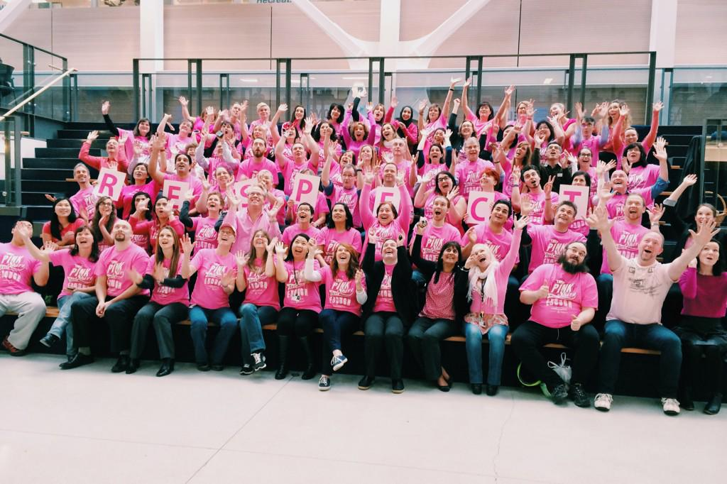 BCIT is proud to support #PinkShirtDay! @pinkshirtday #PinkItForward #antibullying #Respect http://t.co/wgcSNCJl1i