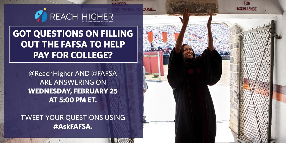 Thumbnail for February 2015 #AskFAFSA Office Hours: FAFSA Completion with Reach Higher
