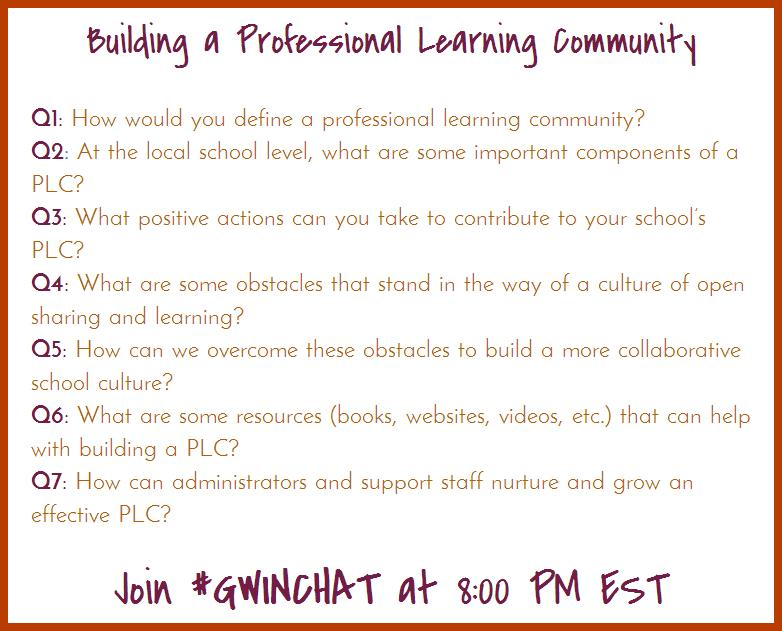 One hour away from the start of #Gwinchat - hope you can join us! Topic: Building a PLC http://t.co/Ci1RTe13bG