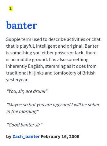 Definition banter