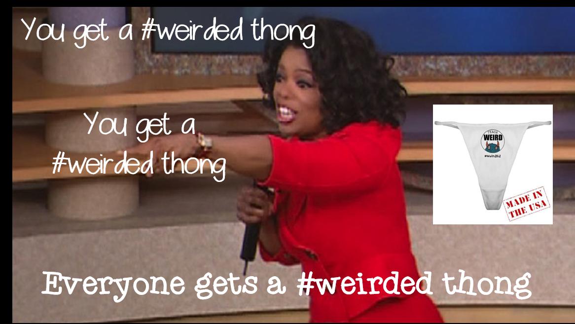 RT @PrimaryTeachNC: @artlaflamme @nolagirlfromtx @BiologyLCHS @tritonkory Oprah's givin em away! #weirdede http://t.co/yCFxauVOvZ
