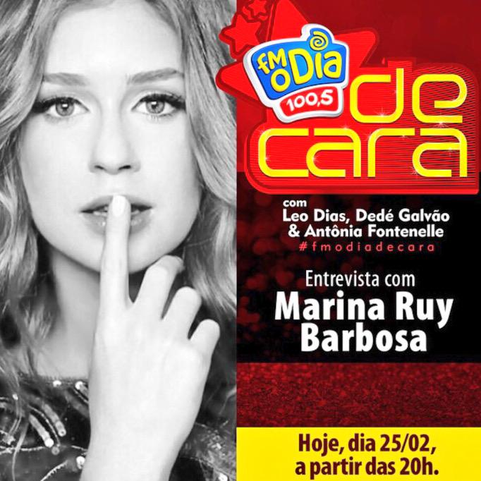 Marina Ruy-barbosa  - Ta rolando. twitter @mariruybarbosa