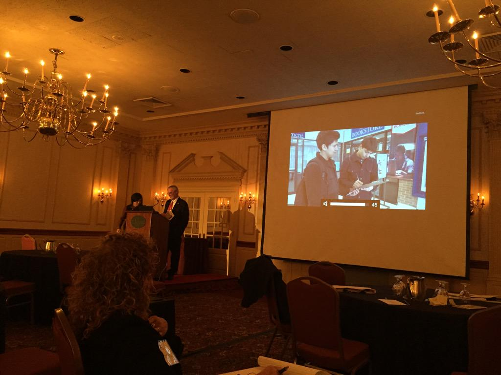 @nysut Kevin Peterman president of Suffolk shows a video on the advocacy going on for community colleges. http://t.co/wFFiBL4zAn