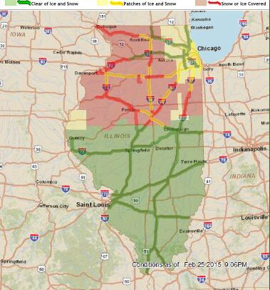 illinois dot road conditions map illinois map