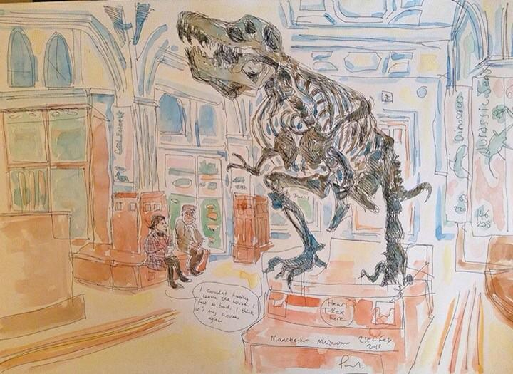 T Rex at Manchester Museum @McrMuseum yesterday http://t.co/phtq41RTAH