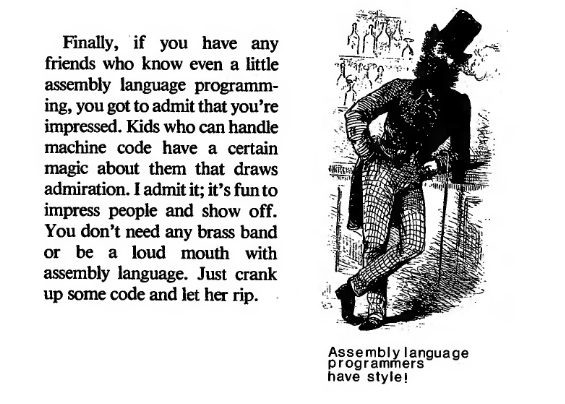 """Kids who can handle machine code have a certain magic about them"" Assembly Language for Kids https://t.co/J151bOPl9d http://t.co/9lxh18udY4"