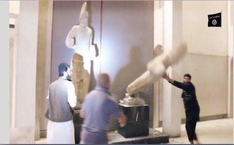 ماهو متداول رسميا من قبل منظمة اليونيسكو هو حرق مكتبة الموصل المركزية قبل ١٦ ساعة  حرق ١٠٠ الف كتاب  منهم ٨٠٠٠ مخطوطة http://t.co/rS2NnZW25D