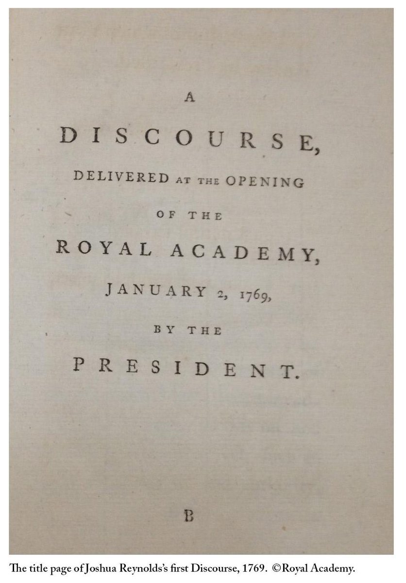 On 2 Jan 1769, at the grand opening of the Academy schools, #JoshuaReynolds gave the first of his Discourses on art http://t.co/yO19yIF3KF
