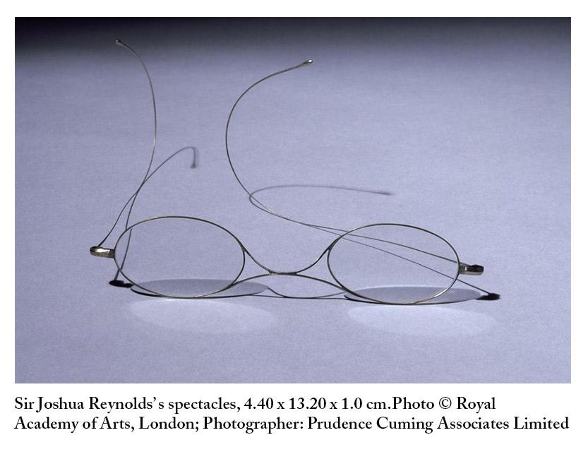 Here are his spectacles, to help you picture this President and professor delivering his lecture #JoshuaReynolds http://t.co/iPA0AtCW7J