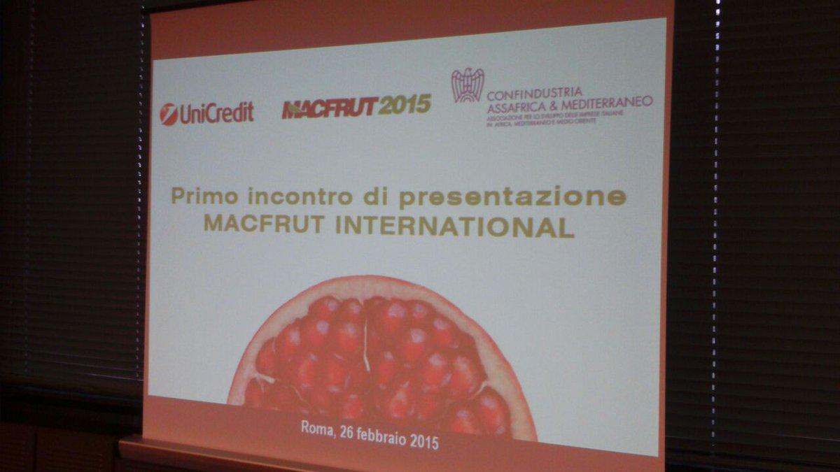 Thumbnail for Road Show di presentazione della Fiera MACFRUT INTERNATIONAL : prima tappa - Roma, 26 febbraio 2015