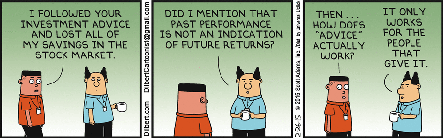 "More from Dilbert & co on investments, this time on investment ""advice"". $$ http://t.co/hy28njdUGM"