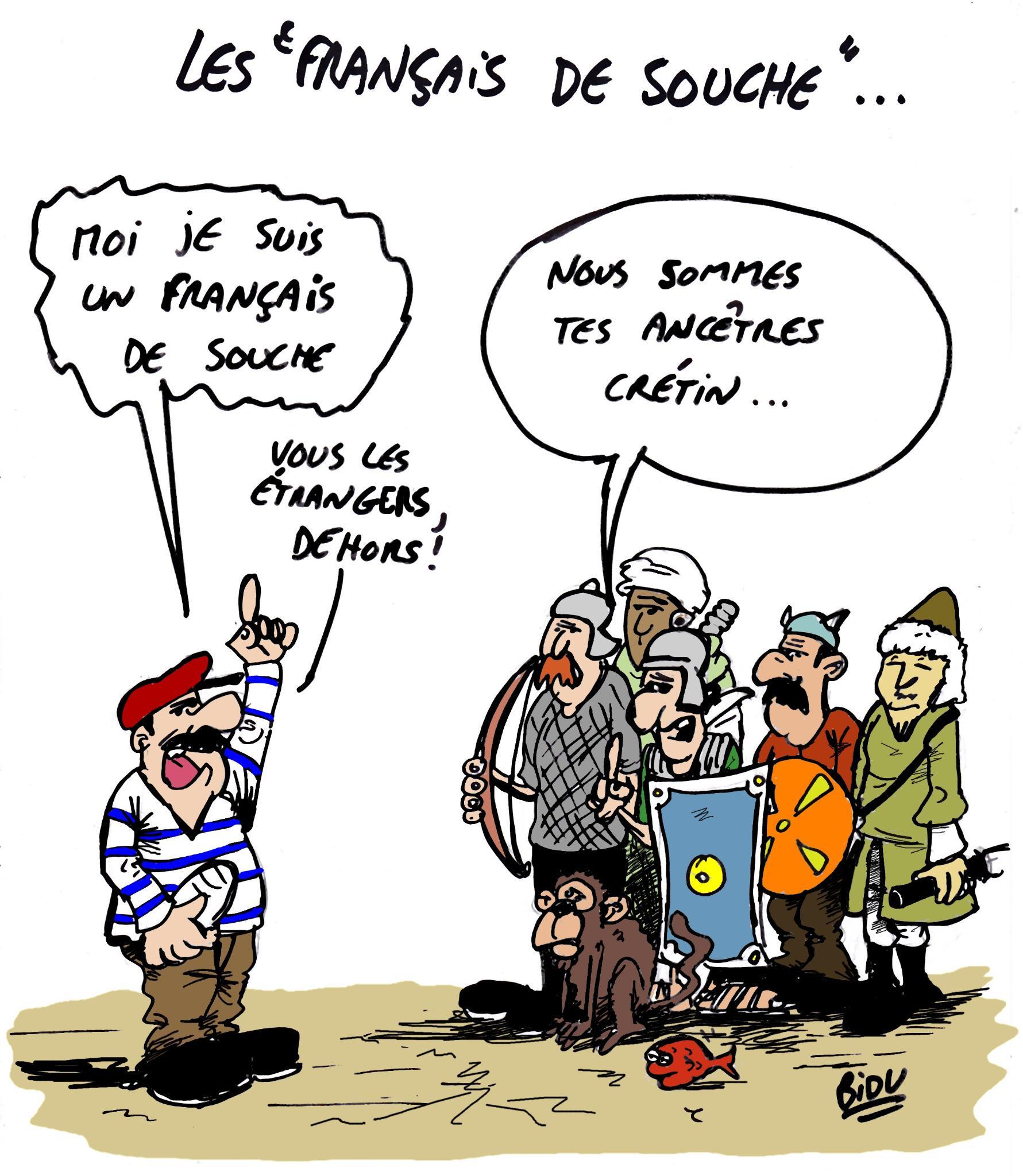 """BIDU-Dessinateur na Twitteru: """"DESSIN: Les français de souche  http://t.co/hGblidhruX"""""""