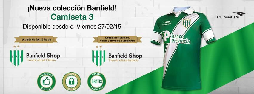 CAMISETA BANFIELD MODELO 3 2015