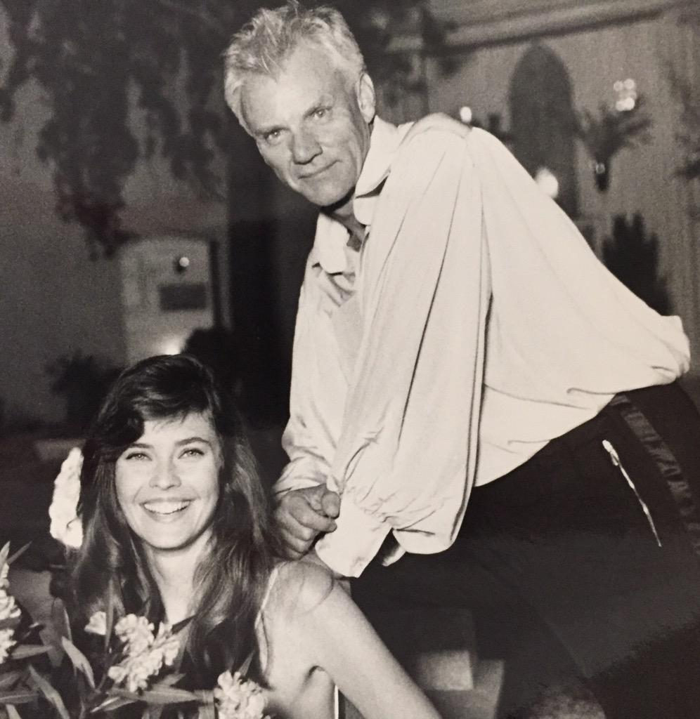 How's this for a #ThrowbackThursday ? Me and Malcolm McDowell on the set of a movie we did! http://t.co/e4Bc1SKTdq