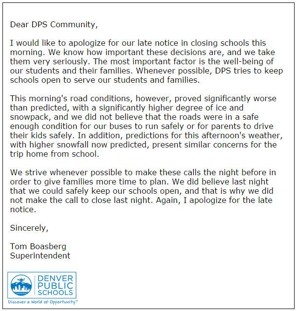 Jeremy Moore On Twitter Denver Public Schools Apology Letter To