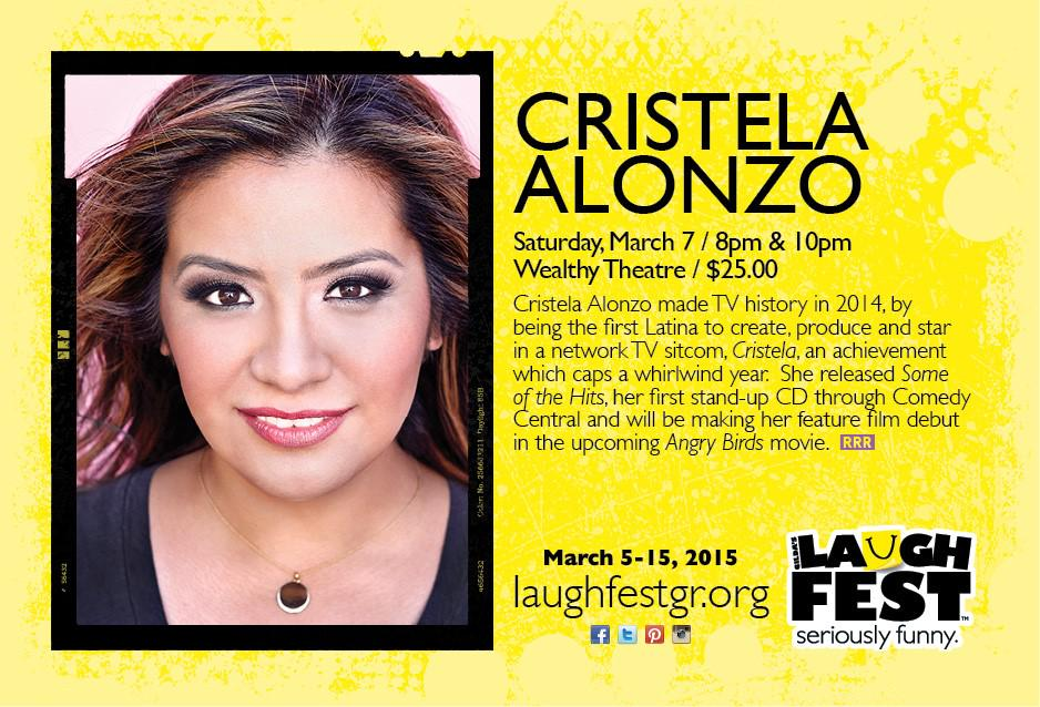 .@Cristela9 the 1st Latina to create, produce & star in network TV sitcom! @LaughFest Sat 3/7 http://t.co/MrLaQIR1ey http://t.co/tDeCaTXUtp